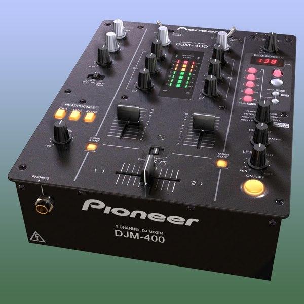djm-400 mixing board c4d