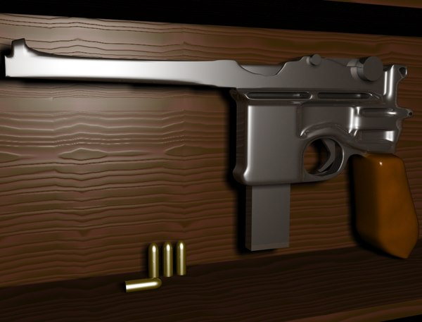 free gun pistol 3d model