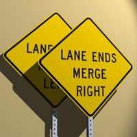 Lane Ends Merge Right/Left