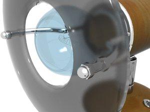 3d reading lamp model