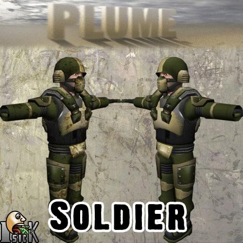 3d model soldier metal vest