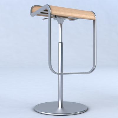 3d Model Of Lem Piston Stool