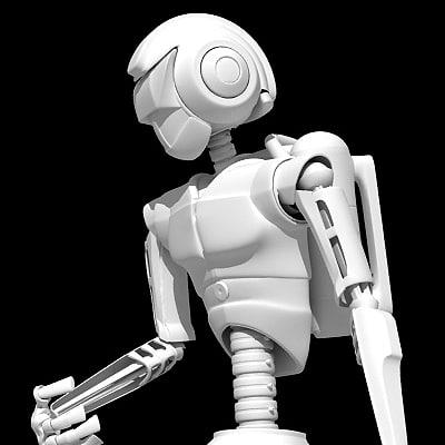 robot rigged 3d max