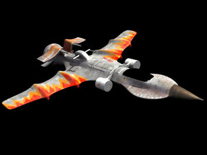 3d model spaceship fighter