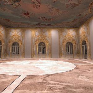 3d interior ballroom