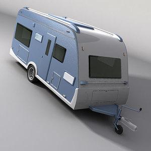 camper caravan 3d model