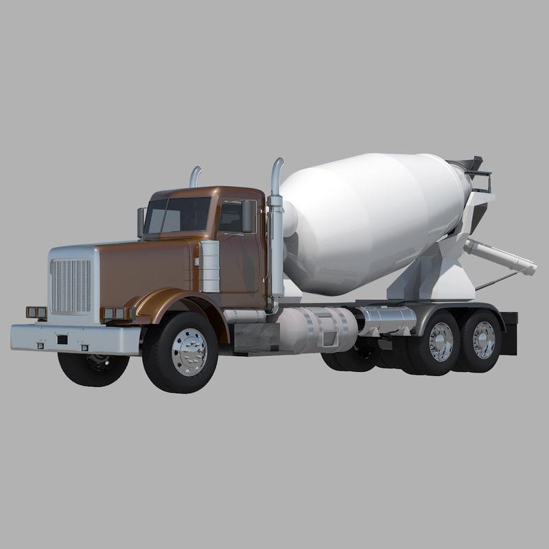concrete mixer truck 3d max