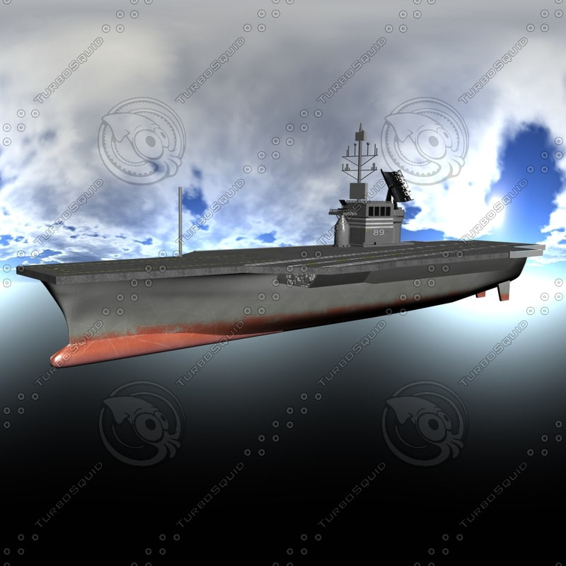 nimitz aircraft carrier 3d model