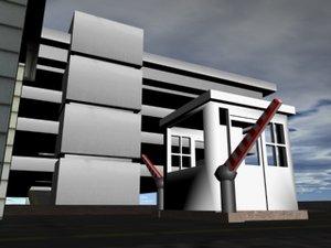 military base gate 3d model
