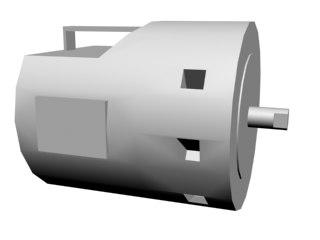 free brush motor 3d model