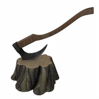 3d model stump axe