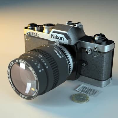 3ds max photo camera nikon