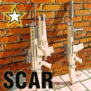 3d army sof combat assault rifle model