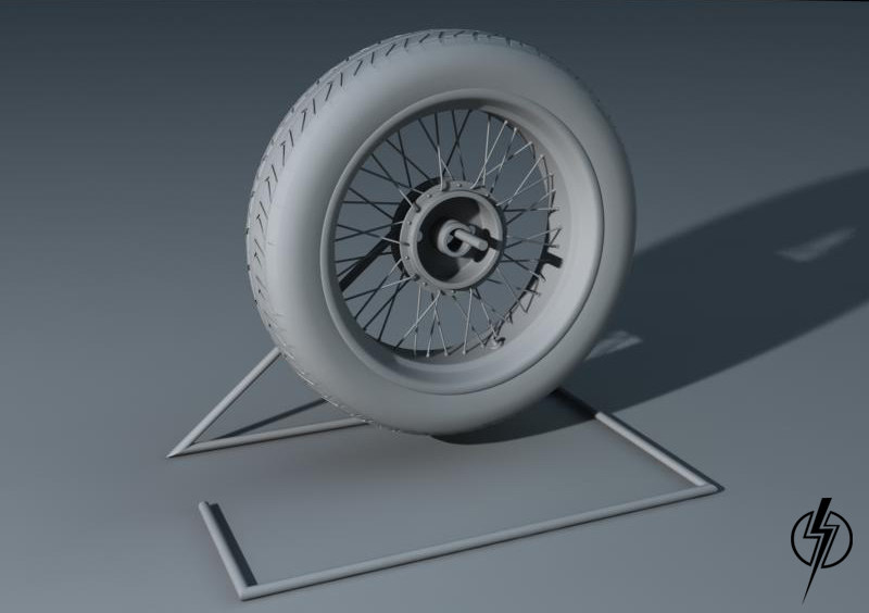 motorcycle wheel 3d x