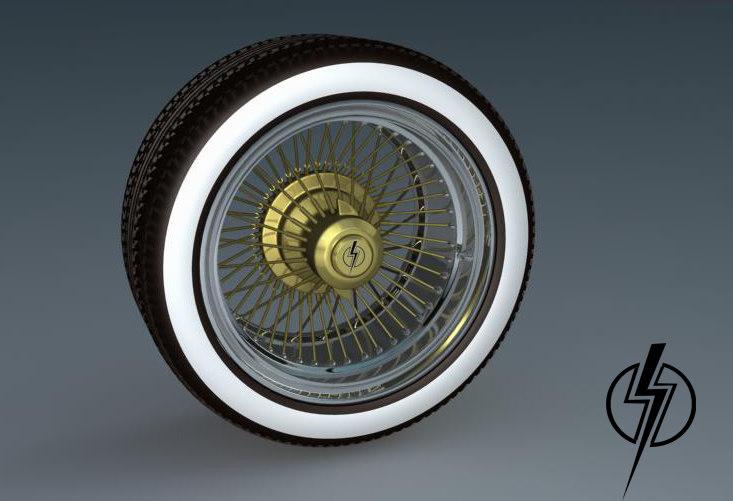 obj vintage wheel
