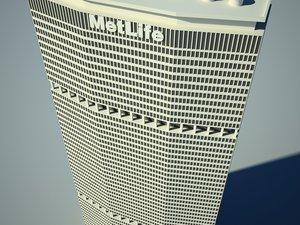 metlife building skyscrapers 3d max
