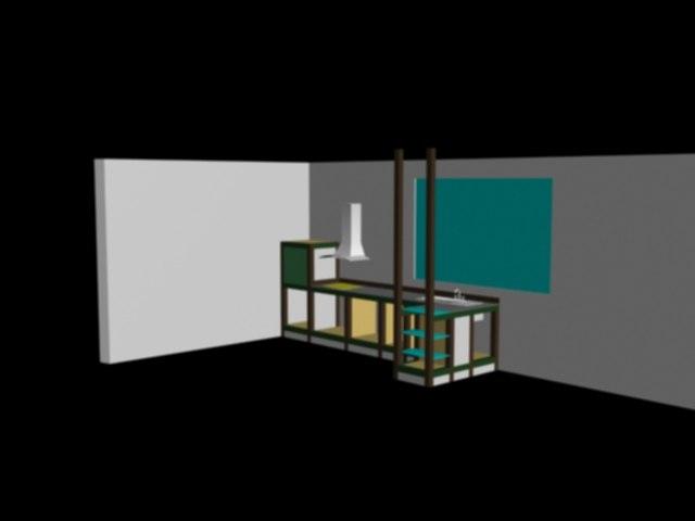 free kitchen 3d model