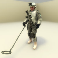 usarmy engineer character 3d max