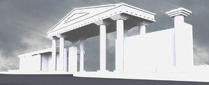 white roman gate 3d model