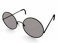 3d glass sun sunglasses model
