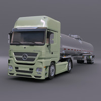 Mercedes Actros with tank