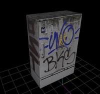 3d electricity case model