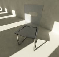 3d model minimalist chair
