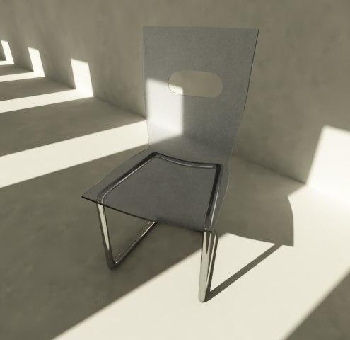 3d model minimalist chair