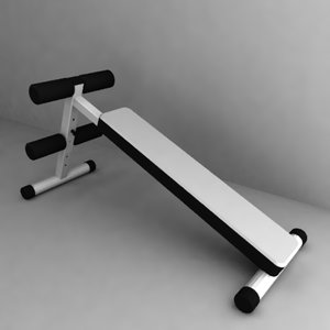 gym bench 3d 3ds