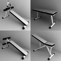 3d model gym bench
