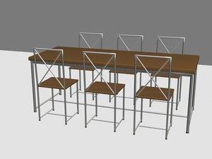 moka table chairs max