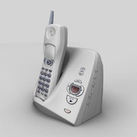 3d cordless telephone model