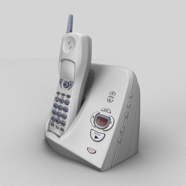 3d cordless telephone model