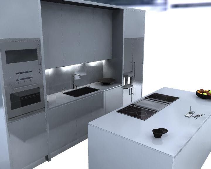 3d obj kitchen
