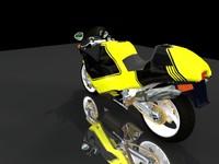 Hot sports motorbike