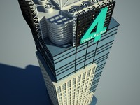 conde nast building square 3d model
