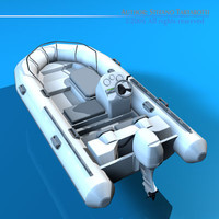 zodiac inflatable boat 3ds