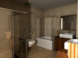 3d c4d bath place