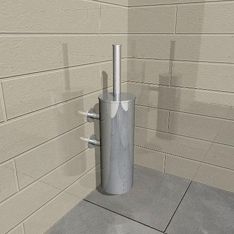 3d toilet brush