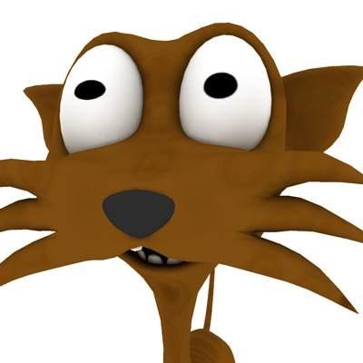 cat cartoon 3d max