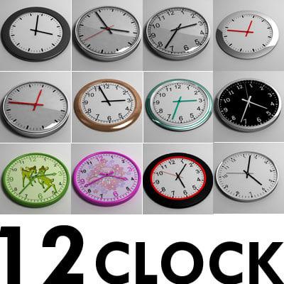 12 clock 3d max