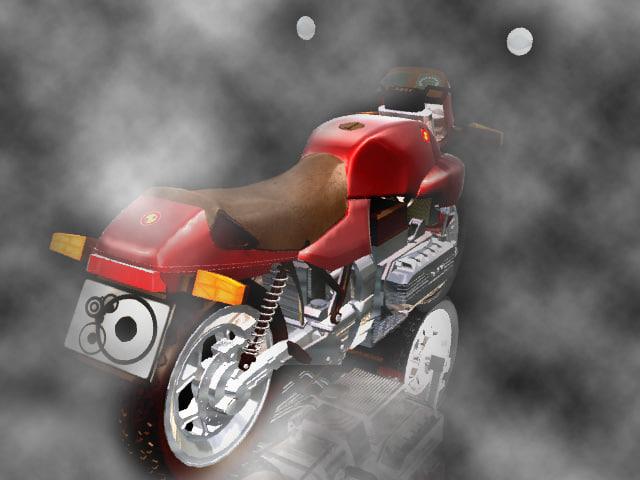 classic motorbike 3d max