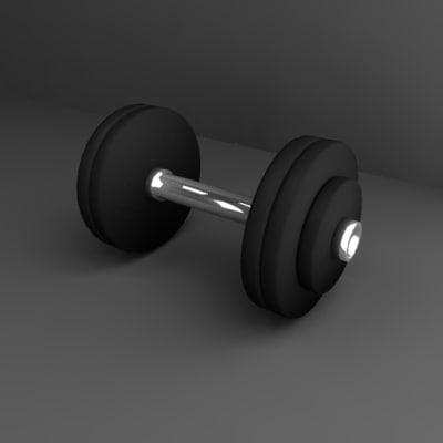 dumbells gym 3d 3ds