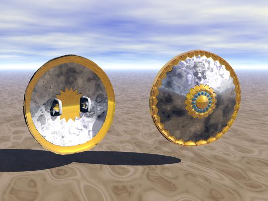melee shield 3d model