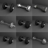 dumbells gym 3d lwo