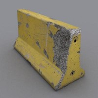3d model photorealistic concrete bumper