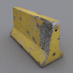 3d model photorealistic concrete bumper
