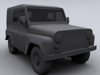UAZ russian army jeep