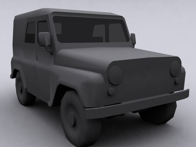 3d uaz army jeep russian model