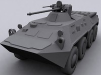 btr 80 personnel carrier 3d model